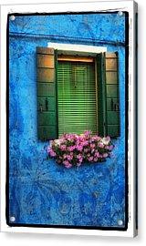 Blue Wall Acrylic Print by Mauro Celotti