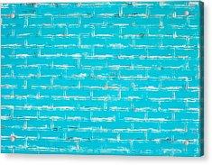 Blue Wall Acrylic Print by Tom Gowanlock