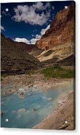 Blue Water, Travertine, Little Colorado Acrylic Print by Ralph Lee Hopkins