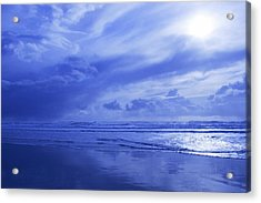 Blue Waterscape Acrylic Print by Christine Mariner