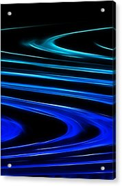 Blue Waves Acrylic Print by Ricky Barnard