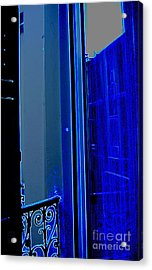 Blue Window In Paris Acrylic Print