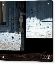 Acrylic Print featuring the photograph Blue Wooden Window Shutters by Agnieszka Kubica