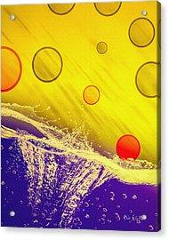 Blue Yellow Red Acrylic Print by Bob Orsillo