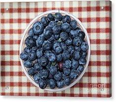 Blueberries - 5d17825 Acrylic Print by Wingsdomain Art and Photography