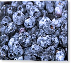 Blueberries  Acrylic Print by Kim French