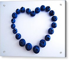 Acrylic Print featuring the photograph Blueberry Heart by Julia Wilcox