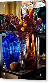 Blues And Ambers Acrylic Print by Christopher Holmes