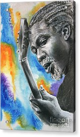 Blues Guitar 1 Acrylic Print