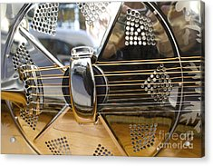 Blues Guitar Acrylic Print by Ed Rooney