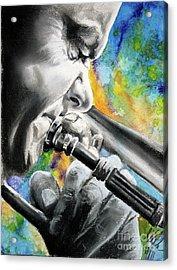Blues Trombone 1 Acrylic Print