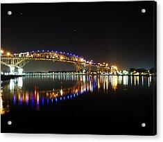 Bluewater Bridges On A Warm Spring Night Acrylic Print