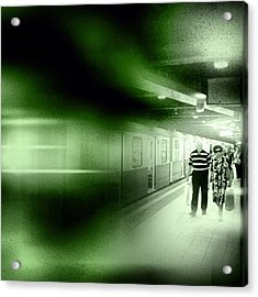 Blur In The Tube #iphone #instagram Acrylic Print