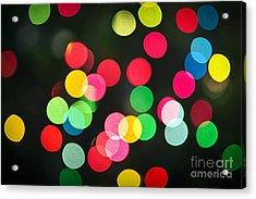 Blurred Christmas Lights Acrylic Print