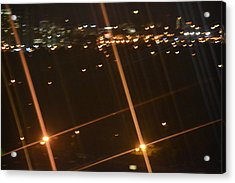 Blurred City Nights Acrylic Print by Naomi Berhane