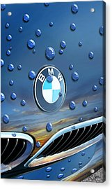 Bmw - Roundel And Raindrops Acrylic Print
