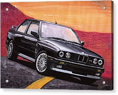 Acrylic Print featuring the painting Bmw E30 M3 by Rod Seel