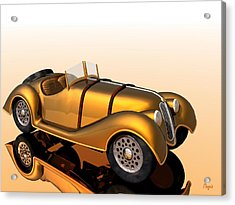 Acrylic Print featuring the digital art Bmw Roadster by John Pangia