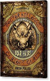 Boar Hairs  Acrylic Print