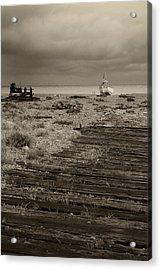 Boardwalk At Dungeness Acrylic Print by David Turner