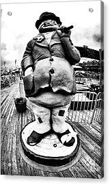 Boardwalk Hobo Acrylic Print by John Rizzuto