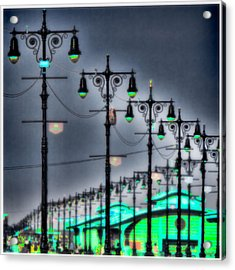 Acrylic Print featuring the photograph Boardwalk Lights by Chris Lord