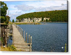 Boardwalk On A Counry Lake Acrylic Print by Western Roundup