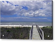 Boardwalk To The Beach Acrylic Print by Sandi OReilly