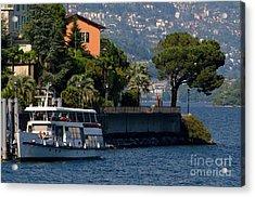 Boat And Tree Acrylic Print