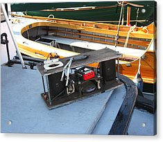 Boat Builders Music Box Acrylic Print by Kym Backland