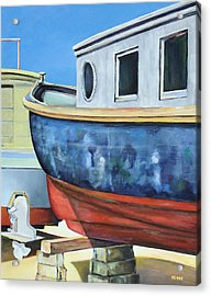 Acrylic Print featuring the painting Boat Hull by Robert Henne