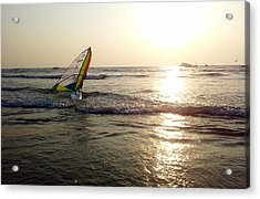 Boat In The Ocean  Acrylic Print by Zoh Beny