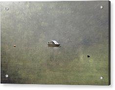 Boat In The Snow Acrylic Print by Joana Kruse