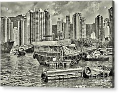 Boat Life In Hong Kong Acrylic Print by Joe  Ng