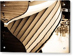 Boat Reflection Acrylic Print by Camille Lyver