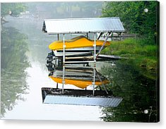 Acrylic Print featuring the photograph Boat Reflections by Ann Murphy