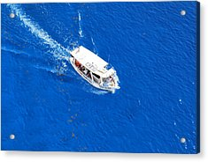 Boat Ride In Cozumel Mexico Acrylic Print by Charles Covington