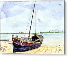 Boat Acrylic Print by Saurav Das