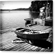 Acrylic Print featuring the photograph Boat Shed by Carole Hinding
