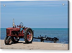 Acrylic Print featuring the photograph Boat Trailer by Barbara McMahon