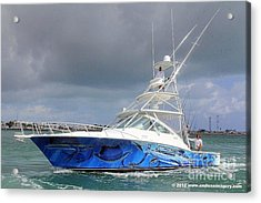 Boat Wrap On Cabo Acrylic Print by Carey Chen