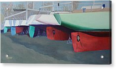Boat Yard Island Heights Acrylic Print by Robert Henne