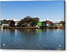 Boathouses Acrylic Print by Graeme Knox