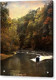 Boating On The Hatchie Acrylic Print by Jai Johnson