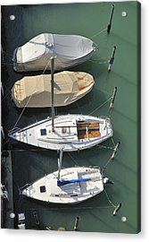 Boats And Water From Above Acrylic Print by Matthias Hauser