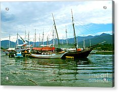 Acrylic Print featuring the photograph Boats At Paraty Brasil by Nareeta Martin