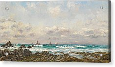 Boats At Sea Acrylic Print by William Lionel Wyllie