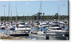 Acrylic Print featuring the photograph Boats At Winthrop Harbor by Debbie Hart