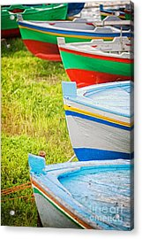 Boats In A Row II Acrylic Print by Silvia Ganora
