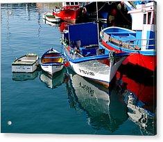 Boats In Los Christianos Acrylic Print by Barbara Walsh